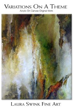 Variations On A Theme is a spring landscape and an original abstract painting that is reminiscent of a spring landscape bathed in green and gold light. Spring Landscape, Abstract Landscape, Original Artwork, Original Paintings, Picture Wire, Abstract Canvas, Abstract Paintings, Powerful Images, Small Paintings
