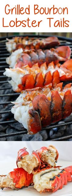 Grill Seasonings:  This grilling season, bring out the lobster! These incredibly easy Grilled Bourbon Lobster Tails are grilled to perfection and coated with a bourbon butter sauce.