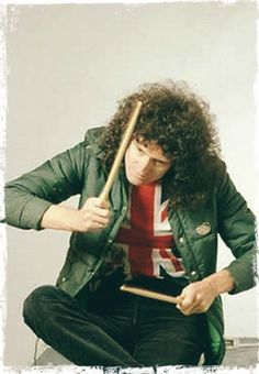 Brian, the hell r you doin Brian May, John Deacon, Adam Lambert, Brian's Song, Roger Taylor, We Will Rock You, Queen Freddie Mercury, Killer Queen, Play Drums