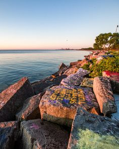 Chicago Sunrise at Northwestern University Lakefront Path - Northwestern University is not as close to Chicago as the other spots on this list but the sunrise view is hard to beat. Northwestern University, Chicago Photography, Beautiful World, Places To See, Paths, Sunrise, Pathways, Sunrises, Rising Sun