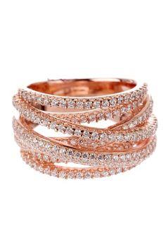 Pave Asymmetrical Step Ring