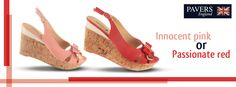 Would you blush Innocent #Pink or go fiery #red with these #fashionable #wedges?