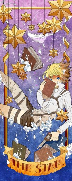 Attack on Titan Tarot Card XVII The Star, Armin Artlet