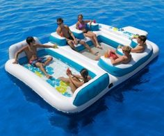 Floating Island Raft – The most fun you can have with up to 6 people in the middle of a lake or a really big pool!