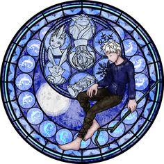 Stained Glass: Jack Frost -Vector- by Akili-Amethyst.deviantart.com on @deviantART