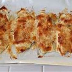 """OMG"" Chicken I put a little Italian dressing in the dish, put the chicken in. Then mixed 1/2 c Greek yogurt with 1/4 c shredded parmesan cheese and spread that on top and sprinkled with Italian bread crumbs. Bake 375 for 45 min. So good!"