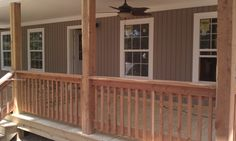Cedar Columns and spindals on Shealy front porch. Front Porch Columns, Front Porch Design, Porch Designs, Porch Supports, Custom Builders, Home Projects, Building A House, New Homes, House Design