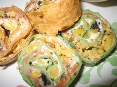 Mexican Rollups - So colorful for Cinco de Mayo and you can make them with any fillings you choose.