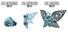 Fakemon: 50 - 52 by *Masterthecreater  (Why can't these be legit pokemon?)