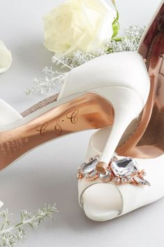 MARK THE OCCASION with Ted's monogrammed footwear service for brides #WedWithTed