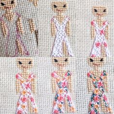 Crochet Flower Tutorial, Crochet Flowers, Cross Stitching, Cross Stitch Embroidery, Cross Stitch Family, Baby Crafts, Pebble Art, Decoupage, Sewing Projects