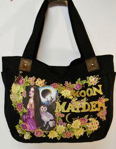 30 OFF Canvas Black Handbag With Custom Fabric by paulagsell, $42.00