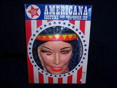 Vintage Ben Cooper Halloween Indian Girl Costume | eBay
