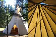 small tipi, mine was a 22' and I had a shepherds' wood stove.  It was a lovely way to live. No phone, no mail, no debt   : )