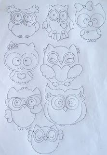Trendy ideas for patchwork molde riscos Owl Crafts, Diy And Crafts, Paper Crafts, Drawing For Kids, Art For Kids, Vitrine Design, Felt Owls, Christmas Owls, Owl Patterns