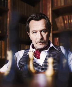 Gary Oldman, one of my favorites!  He can carry it and has style, just ask Prada.