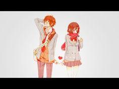 Image about love in Anime/manga by gingerfox on We Heart It Anime Girlfriend, Otaku, Blue Springs Ride, Manga Cute, Wolf Girl, Nerd Geek, Manga Pictures, Cute Anime Couples, Sweater Weather