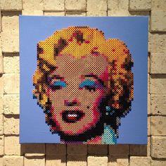 Marilyn Monroe perler bead portrait by oleehamo
