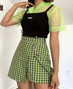 Image may contain: one or more people and people standing Edgy Outfits image people stan standing Indie Outfits, Teen Fashion Outfits, Edgy Outfits, Cute Casual Outfits, Retro Outfits, Vintage Outfits, Green Outfits, Soft Grunge Outfits, Edgy Summer Outfits