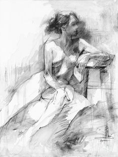 Image result for black and white nude sketch