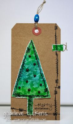 StampingMathilda: Stitched Christmas Tree