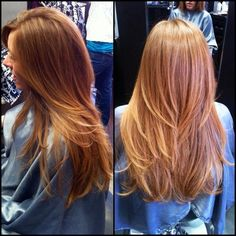 Long layered haircut #longhair #auburnhair #copperhair #layers