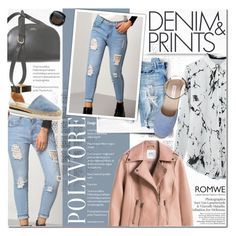 """""""Denim & Prints"""" by dian-lado ❤ liked on Polyvore featuring A.P.C., Bobbi Brown Cosmetics and See by Chloé"""