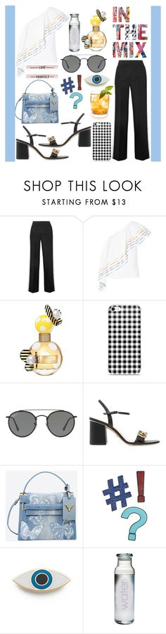 """""""Untitled #308"""" by poorvashikalra ❤ liked on Polyvore featuring Fendi, Rosie Assoulin, Marc Jacobs, Ray-Ban, Gucci, Valentino, Design Lab and Georgia Perry"""