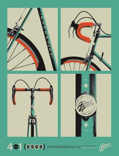 Ooh, beautiful bike angles and this type of illustration is so sleek and fun
