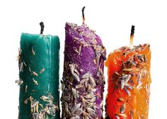 Image of New Moon Hand Dipped Ritual Beeswax Candles