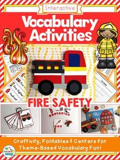 Fire Safety Week Vocabulary Activities for Speech & Language Therapy by teachingtalking.com