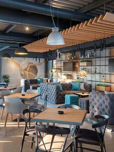 Enterijer restorana Limited u Ovči Modern Office Design, Conference Room, Lounge, Studio, A4, Table, Restaurants, Furniture, Home Decor