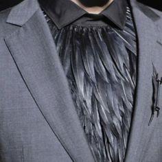 Black feather shirt