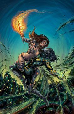 Witchblade & Darkness   Darkness/Witchblade - colors by MeghanHetrick on DeviantArt