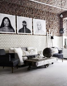 Industrial decor style is perfect for any interior. An industrial home is always a good idea. See more excellent decor tips here: http://www.pinterest.com/vintageinstyle/