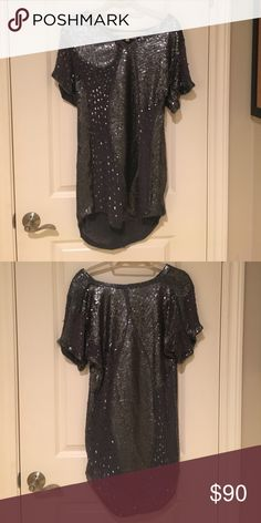 Beyond Vintage sequin dress Size Small (4) Beyond Vintage silver sequin dress Beyond Vintage Dresses