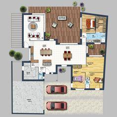 Découvrez cette Maison moderne séjour déplafonné Auray ! Depreux Construction vous accompagne dans votre projet immobilier.