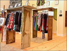 vintage door clothing display ...