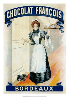 French chocolate poster for Chocolat Francois