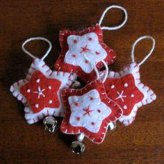 Felt star ornaments by Genae8 on etsy. http://www.etsy.com/shop/genae8design
