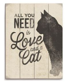 Love this 'Love and a Cat' Silhouette Wall Art by Image Canvas on and like OMG! get some yourself some pawtastic adorable cat apparel! Cat Quotes, Animal Quotes, Crazy Cat Lady, Crazy Cats, I Love Cats, Cool Cats, Cat Signs, Cat Silhouette, Cat Decor