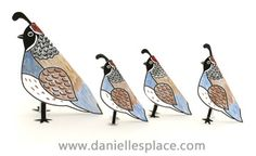 Quail Paper Craft - God gives the Israelites Quail -  directions on  www.daniellesplace.com