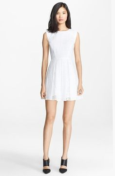 Rachel Zoe 'Marcel' Cotton Eyelet Fit & Flare Dress available at #Nordstrom