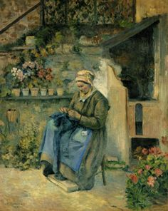 La Mère Jolly by Camille Pissarro
