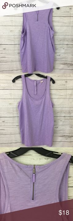 "J. Crew lavender purple zipper back tank top Great condition. 17.5"" armpit to armpit and 27"" long J. Crew Tops"