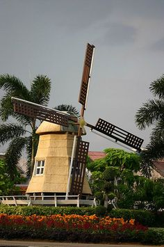 Windmill - remembering the Dutch influence in Melaka, Malaysia