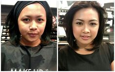 Before After - Day Makeup by @Agustin Orozco Puji national trainer Make Up For Ever Indonesia