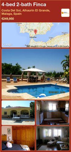 4-bed 2-bath Finca for Sale in Costa Del Sol, Alhaurin El Grande, Malaga, Spain ►€249,950
