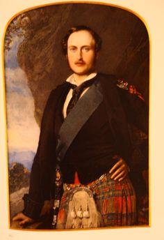 Miniature Portrait of Prince Albert in Tartan