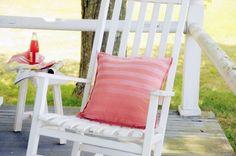 sun kissed ombre stripe pillow #diy